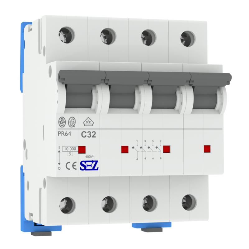 leitungsschutzschalter c32a 4 polig 10ka vde sicherung automat ls schalter sez ebay. Black Bedroom Furniture Sets. Home Design Ideas