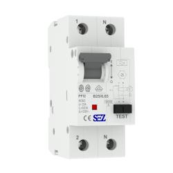 B25A 30mA 2P 10kA TYP A Wyłącznik różnicowoprąd z członem nadprąd RCBO SEZ 0417