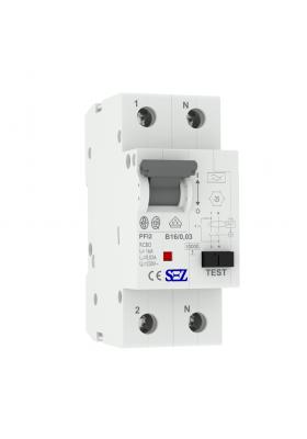 B16 2P 10kA 30mA Wyłącznik różnicowoprądowy z członem nadprądowym RCBO SEZ 0219