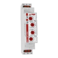 Przekaźnik dwuczasowy jednofunkcyjny  1P 12-240V 1- funkcja 8 zakresów RPC-1IP-UNI Relpol 0455