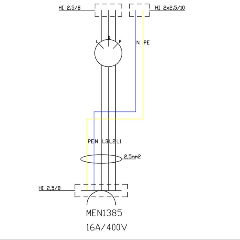 Wanddose WDD 1x16A Nockenschalter 16A L-0-P Stromverteiler Doktorvolt® 6091