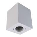 Oprawa sufitowa GU5.3 MR16 IP20 biała aluminiowa natynkowa dekoracyjna ruchoma kwadrat Sensa GTV 6875