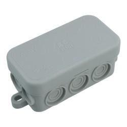 Puszka natynkowa 80x43x37mm 10-membran IP55 EC411C1 Elettrocanali 7835