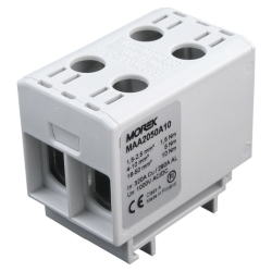 Złączka szynowa 1,5-50mm2 szara 4 otwor AL/CU 1000V TH35 1P