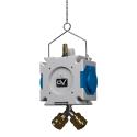 Rozdzielnica wisząca mDV 2x230V schuko praca z łączem pneumatycznym 1,5m łańcuszek Doktorvolt® 2749