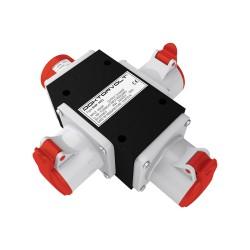 Rozgałęźnik 3-fazowy wejście 1x16A 5P/ wyjście 3x16A 5P IP44 ROP 1653 6376