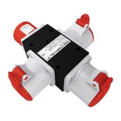 Rozgałęźnik 3-fazowy wejście 1x32A 5P/ wyjście 3x32A 5P IP44 ROP 3253