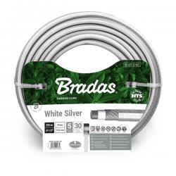 """Wąż ogrodowy 1/2"""" 20m NTS WHITE SILVER WWS1/220 BRADAS 5335"""