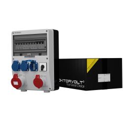 Rozdzielnica TD-S/FI 32A 16A 3x230V łącz.krzywk 0-1 Schuko Doktorvolt® 2404