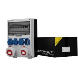 Rozdzielnica IP54 TD-S/FI 32A 16A 4x230V Schuko