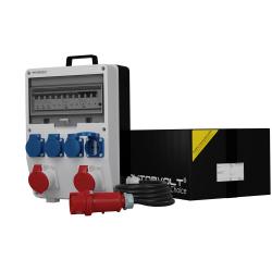 Rozdzielnica TD-S/FI 2x16A 4x230V przewód 5x4mm2 gniazda Schuko Doktorvolt® 6800