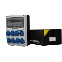 Rozdzielnica TD-S/FI 8x230V Schuko wył.różnic.prąd 25A 30mA 2P TYPA Doktorvolt® 2824