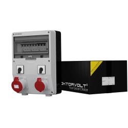 Rozdzielnica TD-S/FI 32A 16A 2xŁącznik krzywkowy L-O-P Doktorvolt® 6053