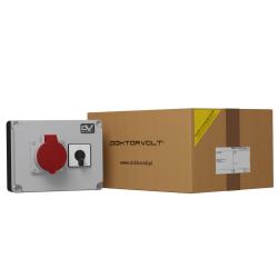 Rozdzielnica budowlana WDD 1x16A łącznik krzywkowy 16A 0-1 Doktorvolt® 2985