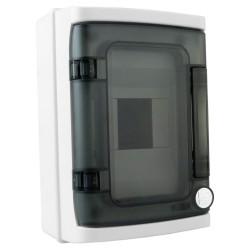 Rozdzielnica natynkowa HIGHT IP65 4 modułowa transparentne drzwi 940.04 M-L 4823