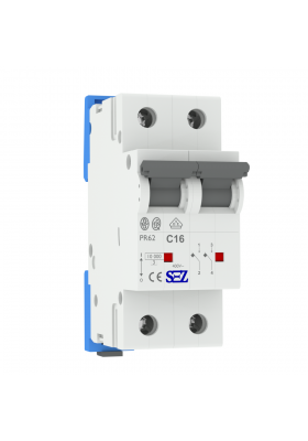 Wyłącznik nadprądowy 2P Typ S PR62 C16A 10kA