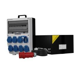 Rozdzielnica TD-S/FI 8x230V SKH z kablem 5x4mm² i wtyczką 32A Doktorvolt® 9726