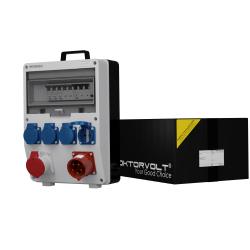 Rozdzielnica TD-S/FI 16A 4x230V odb 32A uchwyt