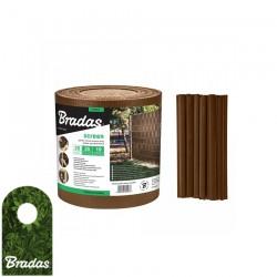 Taśma ogrodzeniowa balkonowa brązowa 19cm x 35m + klipsy BRADAS 0278