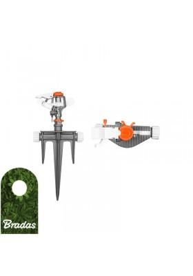 Zraszacz ogrodowy pulsacyjny na kolcu trójzębnym BRADAS