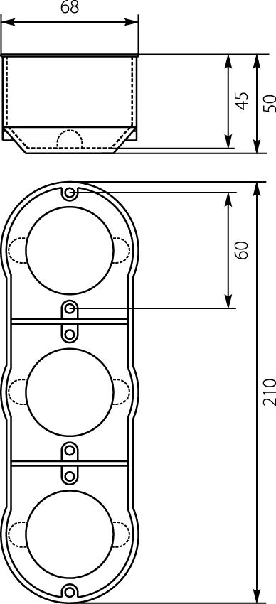 Bekannt Schalterdose 13.73 Unterputzdose 60mm Dose Einbaudose PKw-3 dreifach OJ34