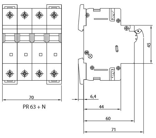 leitungsschutzschalter c16a 3 polig n 10ka vde sicherung automat ls schalter sez ebay. Black Bedroom Furniture Sets. Home Design Ideas