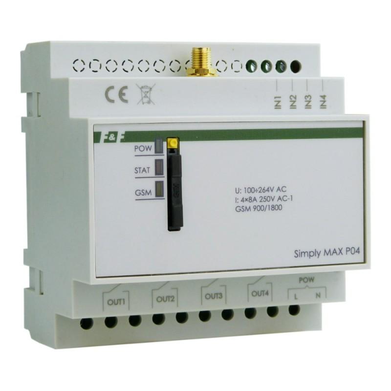 Przekaźnik czterokanałowy sterowanie GSM