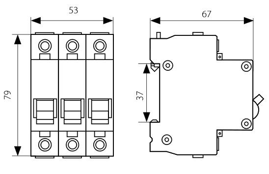 leitungsschutzschalter b25a 3 polig 6ka sicherungsautomat ls schalter schteiner ebay. Black Bedroom Furniture Sets. Home Design Ideas